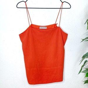 Everlane Clean Silk Red Cami Sz 6